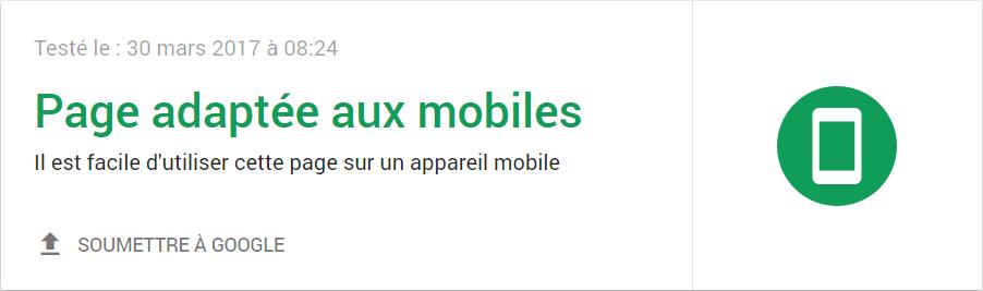 Site Web compatible aux appareils mobiles