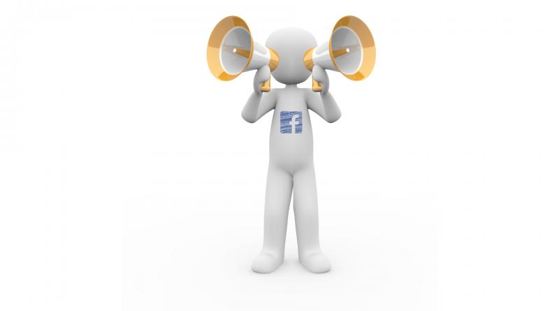 Facebook parle des deux côtés de la bouche