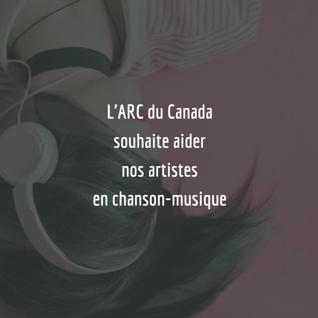 Nous souhaitons aider les artistes en chanson-musique de nos communautés